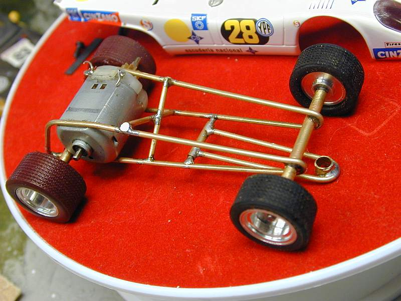 making tire for slot cars by michael nyberg no jigs used simply eyeballed and set on the track a couple of times to align things by sight took all afternoon to build this